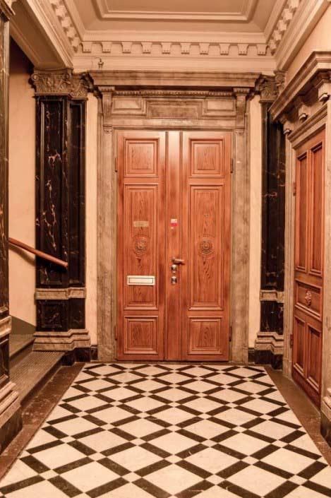 Pardörr, säkerhetsdörr, likt originaldörren