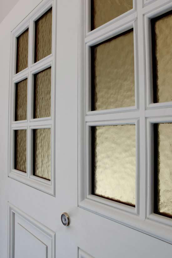 Glasillustration i dörrblad, säkerhetsdörr klass 4