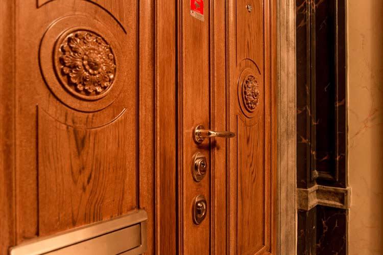 Ornament säkerhetsdörrar, pardörr